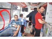 Kan bağışına Eleşkirt'ten yoğun ilgi
