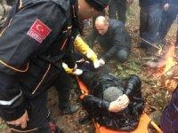 Dağda mahsur kalan yaşlı adam kurtarıldı