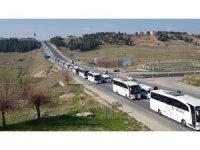 Adıyaman'da yüzlerce araç ile Afrin'e destek konvoyu düzenlendi