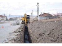 Şuhut Belediyesi ekiplerinin atık su kanalizasyon çalışmaları