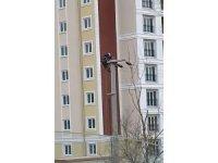 Elektrik işçileri metrelerce yükseklikteki direklerde ölümle dans ettiler