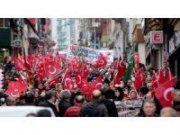 Giresun'da vatandaşlar 'Zeytin Dalı Harekatı' için yürüdü