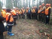 Ormanda eğitim tatbikatı