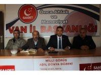 SP Van İl Başkanı İlhan'dan 'Güçbirliği' açıklaması