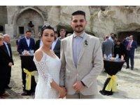 Dünyanın en büyük yer altı kentinde nikah kıydırdılar