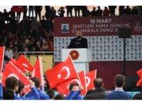Cumhurbaşkanı Erdoğan Afrin müjdesini Çanakkale'den verdi