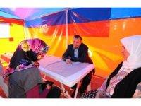Taş, Gönül Çadırı'nda vatandaşlarla buluştu