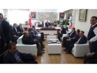Başkan Küçük ve ilçe teşkilatından Kahtalı'ya hayırlı olsun ziyareti