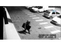 Bir dakikada televizyonu alıp kaçan hırsız güvenlik kameralarına takıldı