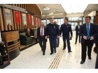 Hava Tuğgeneral Ercan Teke'den Memduh Büyükkılıç'a Nezaket Ziyareti