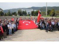 Mustafa Kemal Üniversitesinden Afrin Zaferi yürüyüşü
