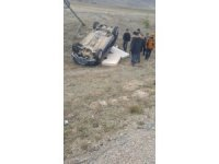 Bayburt'ta trafik kazası:2 yaralı