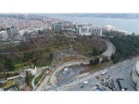 Dolmabahçe-Levazım arasını 5 dakikaya düşürecek tünel çalışmaları havadan görüntülendi