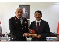 Başkan Çelik'ten Tuğgeneral Can'a Afrin teşekkürü