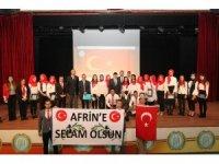 BEÜ'den Afrin'e selam