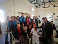 Kumluca'da yaşlılar evlerinde ziyaret edildi