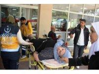 Öğrencinin attığı şut öğretmeni hastanelik etti