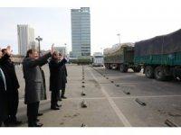 Hakan Çavuşoğlu Moğolistan'da TİKA hayvan yemi dağıtım törenine katıldı