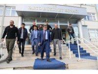 Kaymakam Uzan'dan Kaymakam Çetin'e ziyaret