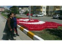 Türk Bayrağı Peyzaj Çalışması şehit ailesini gururlandırdı