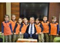 Çevreci öğrencilerden Başkan Çerçi'ye teşekkür