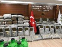 Milas'ta ele geçirilen 1 tonluk uyuşturucu operasyonu polis kamerasına yansıdı