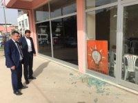 Aydın'da AK Parti binasına saldırdılar