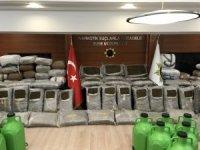 Muğla'da ele geçirilen 1 ton uyuşturucu basın mensuplarına gösterildi