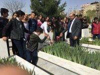 Diyarbakırlı öğrencilerden şehitlik ziyareti