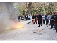 Gaziantep Öğretmenevi'nde yangın söndürme eğitimi verildi