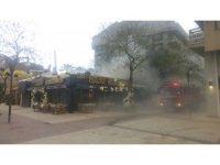 Kuşadası'nda lokanta yangını