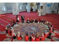"""""""Damla Projesi"""" gönüllüleri Müftü Kulaz'ı ziyaret etti"""