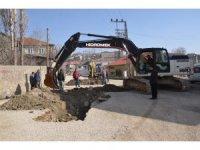 Yüksekova'da altyapı çalışması yeniden başlatıldı