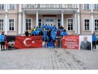 Bisikletçiler Tekirdağ toprağını Çanakkale'ye götürecek