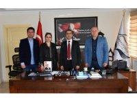 Asimder Başkanı Gülbey, Kaymakam Güzel'i ziyaret etti