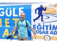 Eğitim için Artvin'den Muğla'ya bin 645 kilometre koşacak
