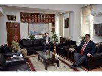 Vali Ünlü, Jandarma Komutanlığını ziyaret etti