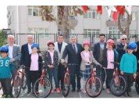Herekeli öğrenciler bisikletlerine kavuştu