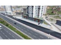 Mimarsinan Fatih Mahallesi'nde asfaltlama çalışması yapılıyor