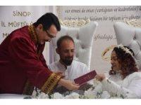 Sinop'ta müftü ilk kez nikah kıydı