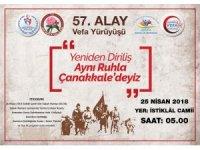 Isparta Gençlik Merkezi'nden '57.Alay Anısına Vefa Yürüyüşü' daveti