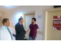 Kaymakam Kaya Göçeri Devlet Hastanesinde incelemelerde bulundu