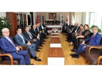 GSO heyetinden Vali Ali Yerlikaya ve kurumlara ziyaret