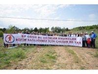 Sağlık Hatıra Ormanı'na 400 fidan dikildi