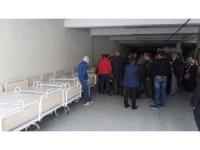 Rize'de yatağa bağımlı hastalara karyola desteği verildi