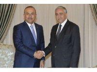 Dışişleri Bakanı Çavuşoğlu, KKTC Cumhurbaşkanı Akıncı ile bir araya geldi