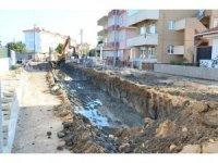Lapseki'de kanalizasyon inşaatı tamamlandı