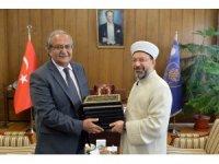 Diyanet İşleri Başkanı Erbaş, Ankara Üniversitesi İlahiyat Fakültesi Camii'nde hutbe irad etti