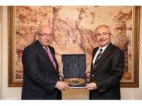 Başkan Albayrak'tan, Mardin Valisi Yaman'a ziyaret