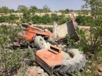 Şarampole devrilen traktörün sürücüsü hayatını kaybetti
